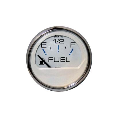 Chesapeake White Stainless Steel Fuel Gauge