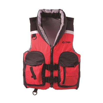 Absolute Outdoor Onyx Red/Black Life/Fishing Vest (Medium)